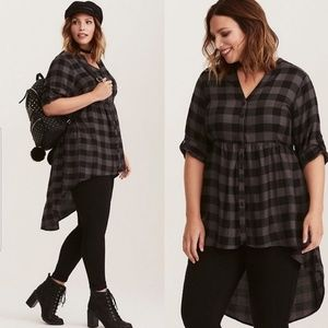 Torrid Lexie Checkered Babydoll Tunic